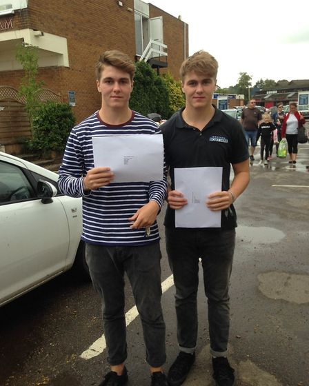 Students at Langley School Sixth Form collect their A-Level results. Photo: Courtesy of Langley Scho