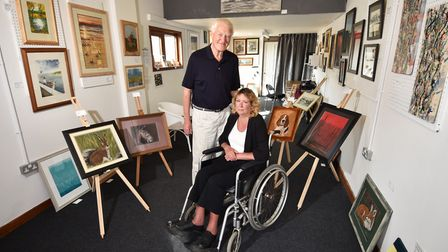 Toad Row Gallery. Owners, artists and tutors Mike and Caz Cullis. Picture : ANTONY KELLY