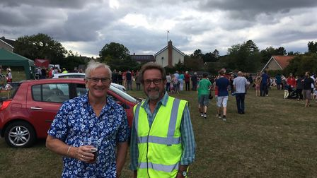 Chairman of the fete committee, Steve Larkin, (right) with a fellow committee member. Photo: James C