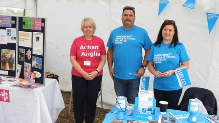 Representatives of Autism Anglia and Parkinsons UK, beneficiaries of this year's Plough Day. Picture