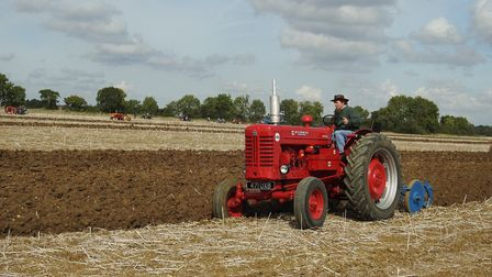 An International Harvester B450 in action at the Plough Day. Picture: George Fisher