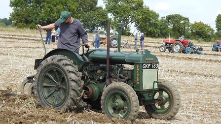 A Standard Fordson in action at the Plough Day. Picture: George Fisher