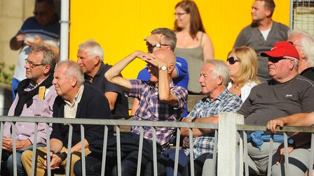 Spectators watch the Great Yarmouth FA Cup match against Cheshunt. Picture: DENISE BRADLEY