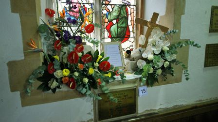 Floral displays with the theme 'anything goes' at Worlingham flower festival. Picture: David Wilcock