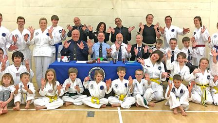 Happy students and instructors after their club belt grading in Bungay. Picture: Susie Bedingfield