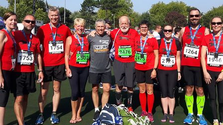Some of the Black Dogs who took part in the Ipswich-based half marathon. Picture: Ken Hurst