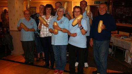 The winning team from the annual skittles evening. Picture: Courtesy of Beccles Helping Hands.