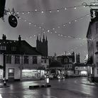 Bungay market place at night, dated 1st December 1967. Photo: Archant Library