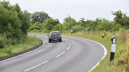 The A143 between Haddiscoe and St Olaves. Picture: James Bass