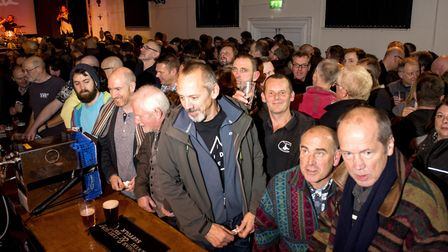 Hundreds of people attend the opening evening of the 6th Annual Beccles Beer Festival at the Public