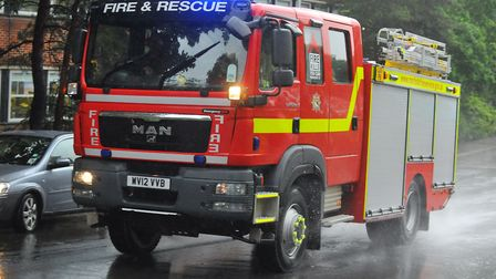 A crew from Harleston was sent to the scene of a chimney fire in Earsham. Picture: Archant Library.