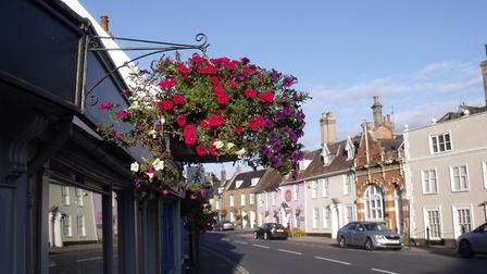 A floral display from the Bungay in Bloom committee. Picture: Martin Evans.