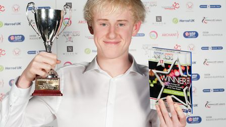 Jordan Catchpole was named the Archant Suffolk Young Sports Personality of the Year 2017. Picture: K