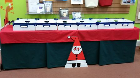 Cards for Good Causes have set up shop in Beccles Library. Photo: Mary Cronin.