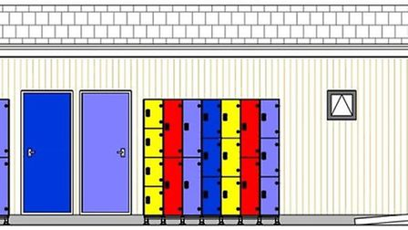 The design for the new toilet block and changing facility at Beccles Lido. Picture: Courtesy of Becc