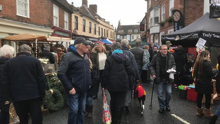 The Bungay Christmas fair draw large crowds.Picture: Anthony Carroll