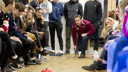 The kurling cup final at Bungay Sixth Form. Picture: Nick Butcher.