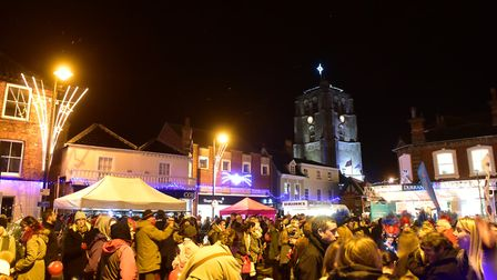 Last year's Christmas lights switch on event in Beccles. Picture: Nick Butcher.