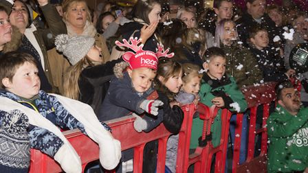 Hundreds of people gather for the Beccles Christmas 2017 festive light switch-on.Picture: Nick Butch
