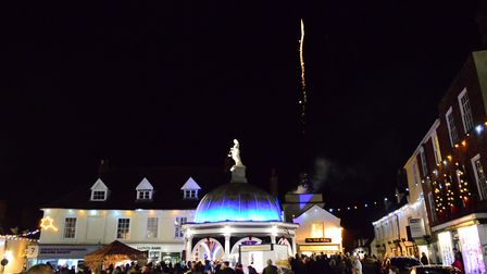 Last year's Christmas lights switch on in Bungay. Picture: Andrew Atterwill.