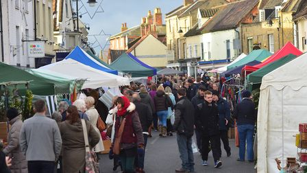 A previous Christmas street market in Bungay. Picture: Nick Butcher.