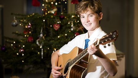 John Green performed at the Beccles Free School Christmas showcase. Picture: Nick Butcher