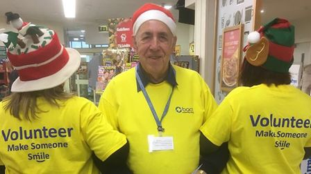 Some of the Bact team at Morrisons in Beccles where they launched a campaign to find new volunteer d