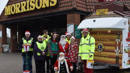 Beccles Lions Santa House at Beccles Morrisons. Photo: Beccles and District Lions Club.