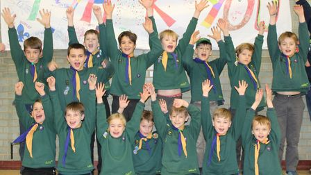 Members of 1st Bungay Sea Scout Group celebrate renovations to their headquarters. Picture: McCann P