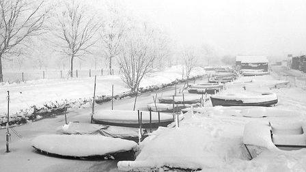 Beccles winter scene, 3rd January 1969. Photo: Archant Library