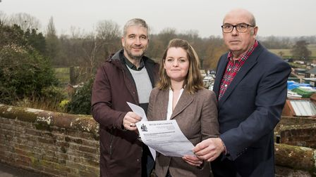 Richard Stubbings, Elfrede Brambley-Crawshaw and Dave Goldstone from the Beccles Neighbourhood Plan