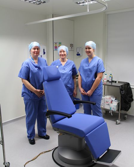 The James Paget University Hospitals' ophthalmology team is now performing a procedure at Beccles Ho