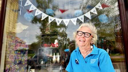 Vickie Cunnane outside the Parkinson's UK shop in Chedgrave at the opening last May. Picture: Nick B