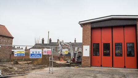Work has started on building the new Fire and Police station in Beccles.Picture: Nick Butcher