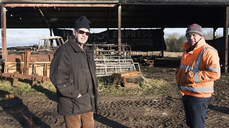 Geoffrey Meen said it was lucky that the fire didn't spread to any other of his outbuildings. Pictur