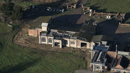 Aerial view of Flixton Hall, December 2017. Picture: John Fielding