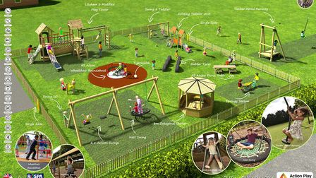A design of how the new Ringsfield and Weston play area will look. Picture: Action Play and Leisure.