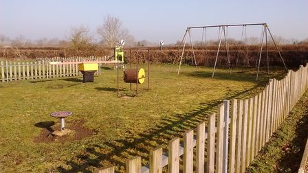 The current play area at Ringsfield and Weston Village Hall. Picture: Sarah Statt.