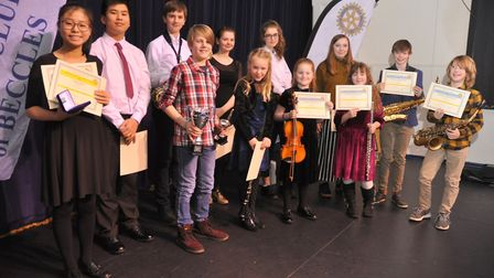 All of the performers in the Young Vocalist and Young Musician of the Year competition. Picture: Joh