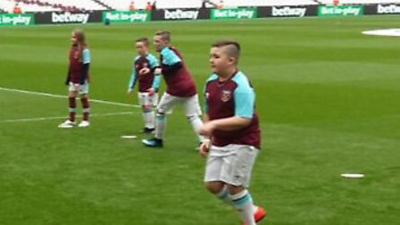 It was a dream come true for Harrison Baldry, as he got the opportunity to be a West Ham United masc