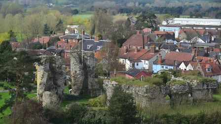 A view of Bungay Castle from the top of St Mary's Church. Picture: Archant library.