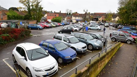 The Thoroughfare car park in Halesworth, which allows shoppers to park for one hour for free. Pictur