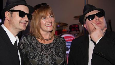 Committed to the Blues Brothers with Sally Golder. Photo: Committed to the Blues Brothers