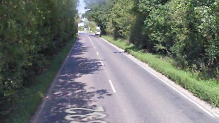 A driver was trapped for over an hour following a crash on the Norwich Road near Ditchingham. Photo: