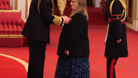 Mrs Piper was made an MBE by the Prince of Wales at Buckingham Palace. Picture: Yui Mok/PA Wire