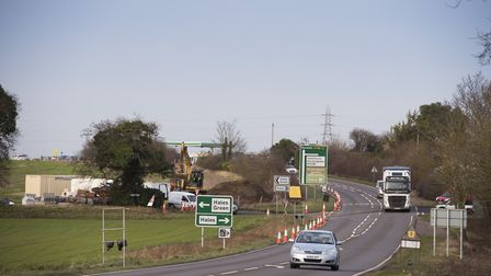 Work has started on a £1.6m project to improve the Hales junction on the A146.Picture: Nick Butcher