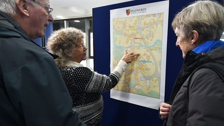 Exhibition at Halesworth Library about the proposed changes to the town centre.Picture: ANTONY KELLY