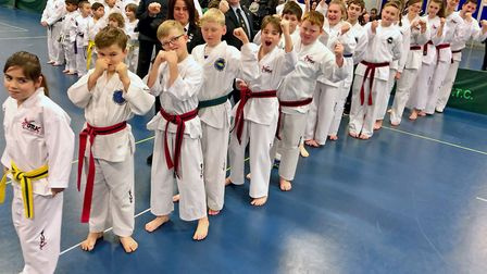 Martial artists from Bungay and Beccles Taekwondo Clubs finished third at the GTUK Eastern Area Inte