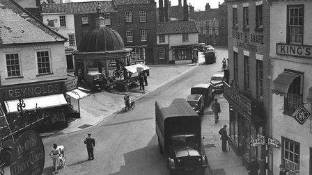 The Butter Cross in the Market Place at Bungay. Finished in 1690 it was the first public building to