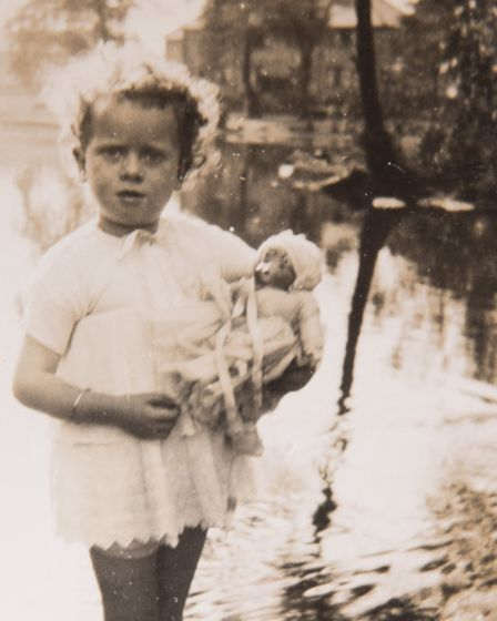 Yvonne Stocks as a child. Picture: Courtesy of Elaine Stocks.